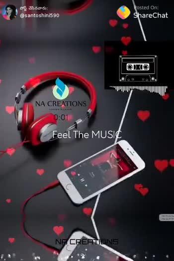 ❤️🎵లవ్ సాంగ్స్ - పోస్ట్ చేసినవారు ? @ santoshini5 90 Posted On : ShareChat NA CREATIONS 0 : 11 Feel The MUSIC NE CRELINS పోస్ట్ చేసినవారు ; @ santoshini5 90 Posted On : ShareChat BURBERED NA CREATIONS Feel The MUSIC - ShareChat