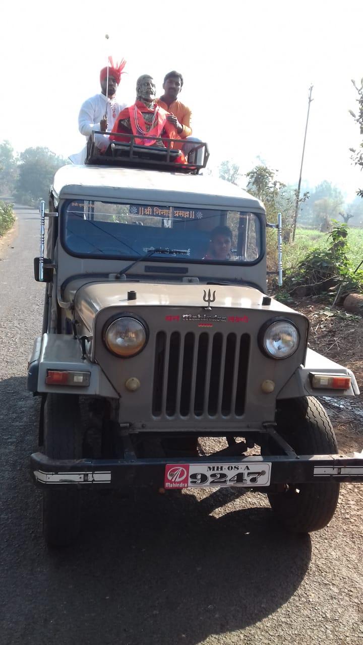 🙏शिवजयंती मिरवणूक - 6 Jश्री निनाई प्रसन्न EF = MISA Mahindra - ShareChat