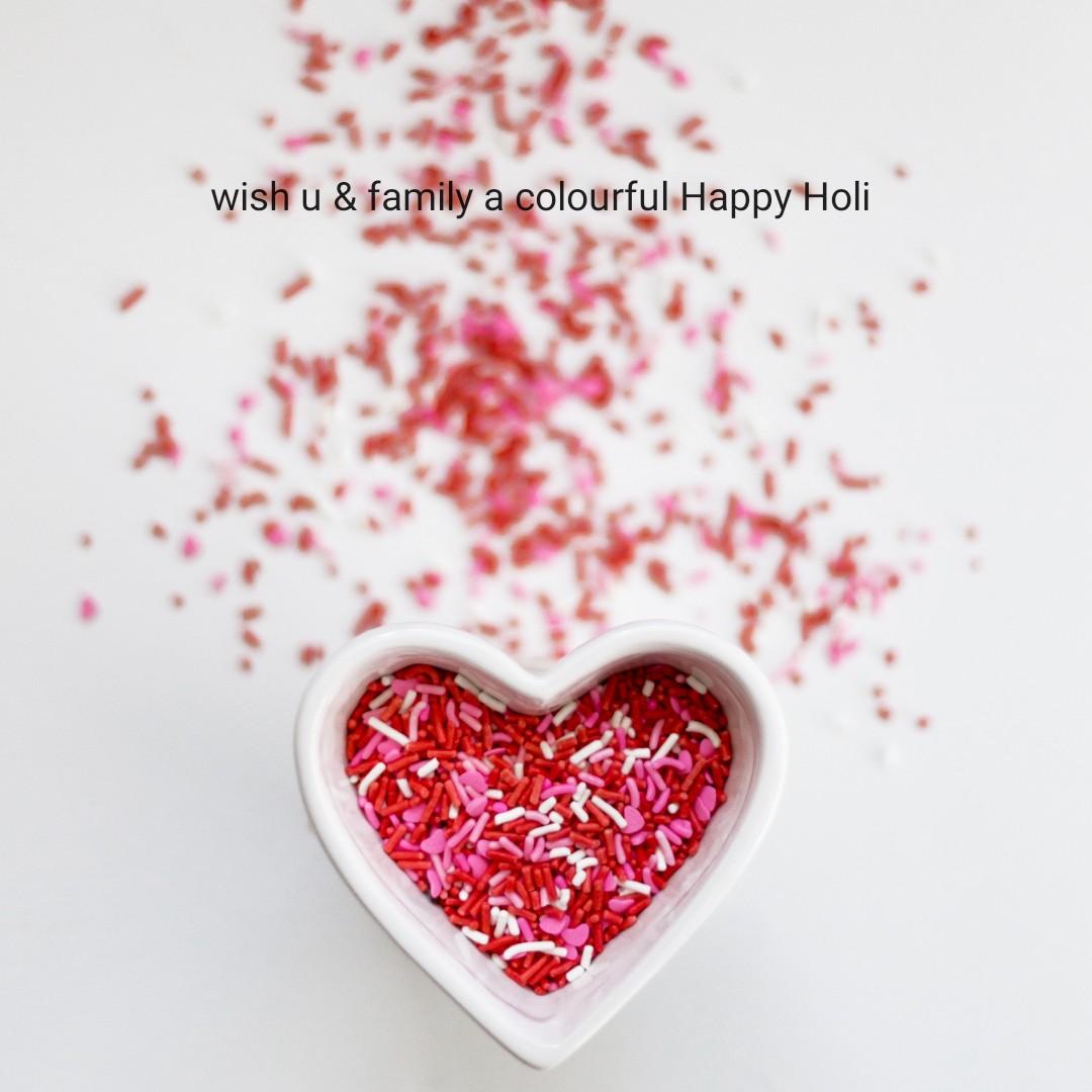 🎴ଶେୟରଚେଟ୍ ବେକଗ୍ରାଉଣ୍ଡ ହୋଲି ଶୁଭେଚ୍ଛା - wish u & family a colourful Happy Holi - ShareChat