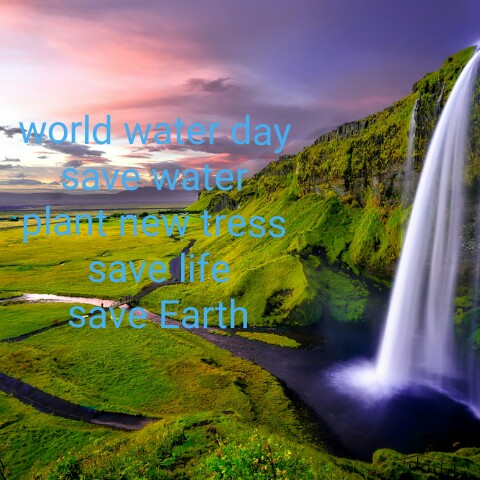 உலக நீர் தினம் - World Wauns day matress save life save Earth - ShareChat
