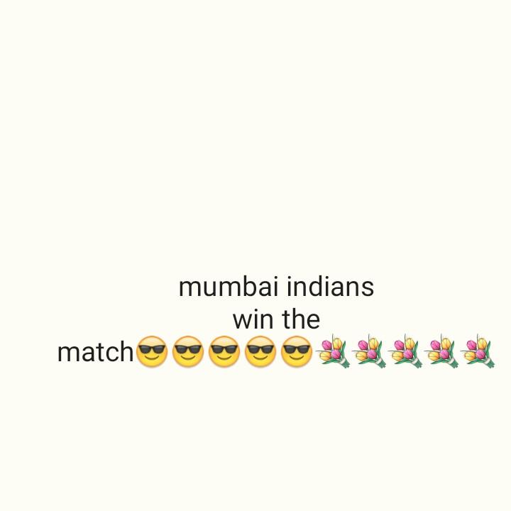 🏏RCB vs MI - mumbai indians win the matchg9999 - ShareChat