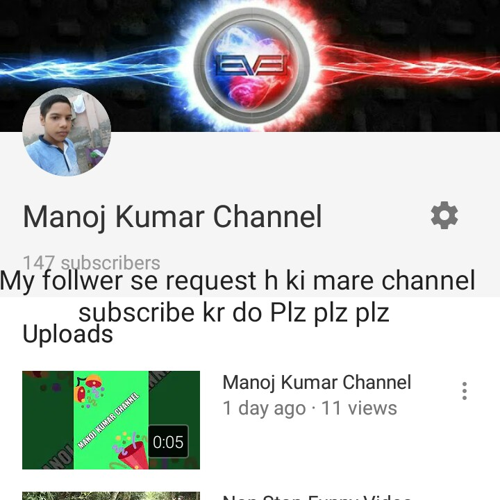 #new - Manoj Kumar Channel 147 subscribers My follwer se request h ki mare channel subscribe kr do Plz plz plz Uploads Manoj Kumar Channel 1 day ago : 11 views 0 : 05 MANOJ KUMAR CHANNEL . . . . . . . . . . . . - ShareChat