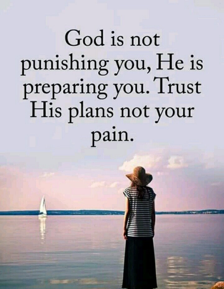 Its my feelings - God is not punishing you , He is preparing you . Trust His plans not your pain . - ShareChat