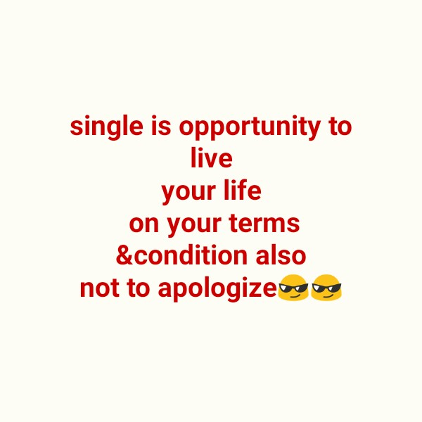 dil ni vat - single is opportunity to live your life on your terms & condition also not to apologize bg og - ShareChat