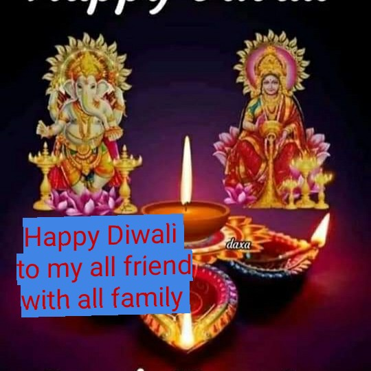 🎆 happy diwali 🎆 - daxa Happy Diwali to my all friend , with all family - ShareChat