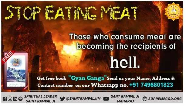 😘eid miladinnabi 😍 - STOP EATING MEAT Those who consume meat are becoming the recipients of hell . FREE Gyan Ganga Get free book Gyan Ganga Send us your Name , Address & Contact number on our Whatsapp no . + 91 7496801823 F in @ SPIRITUAL LEADER SAINT RAMPAL JI @ SAINTRAMPALJIM SANT RAMPAL MAHARAJ SUPREMEGOD . ORG - ShareChat