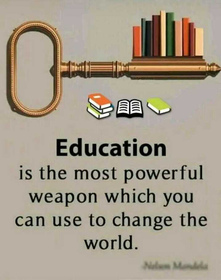 🤒exam fever - Education is the most powerful weapon which you can use to change the world . - ShareChat