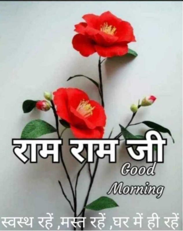 🌷शुभ गुरुवार - राम राम जी Good Morning स्वस्थ रहें मस्त रहें घर में ही रहें । - ShareChat