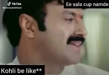 అర్జున్ సురవరం టీజర్ రిలీజ్ - Ee sala cup namde @ actorsaahobharat Kohli be like * * Ee sala cup namde Kohli be like * * @ actorsaahobharat - ShareChat