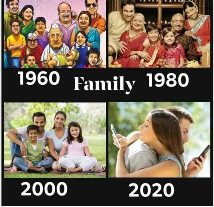 family pic - 1960 Family 1980 2000 2020 - ShareChat