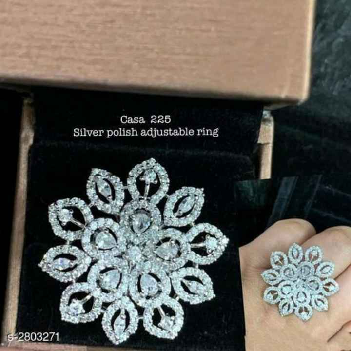 fashion - Casa 225 Silver polish adjustable ring S - 2803271 - ShareChat