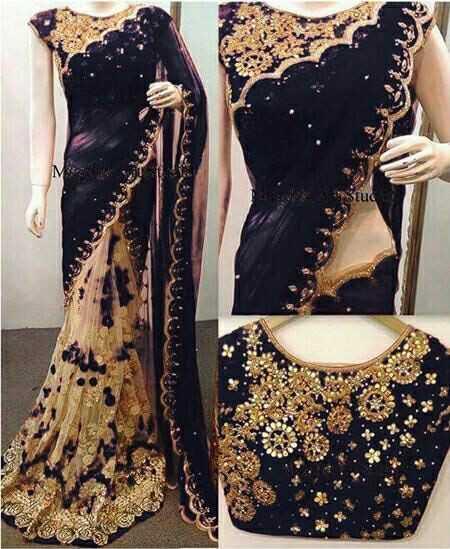 fashion sarees - 023 - ShareChat