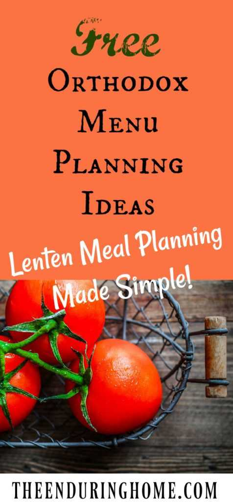 😋 fast ਵਾਲਾ ਭੋਜਨ - Free ORTHODOX Menu PLANNING IDEAS Lenten Meal Planning Made Simple ! THEENDURING HOME . COM - ShareChat