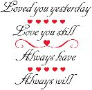 લવ ફોટો - Loved you yesterday Love you still Always have Always will - ShareChat