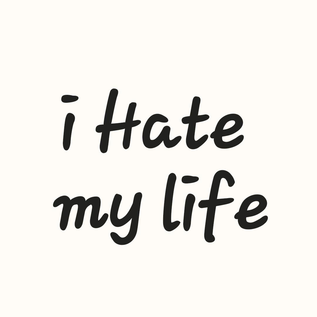 😥 ਪੰਜਾਬੀ sad ਗਾਣੇ - i Hate my life - ShareChat