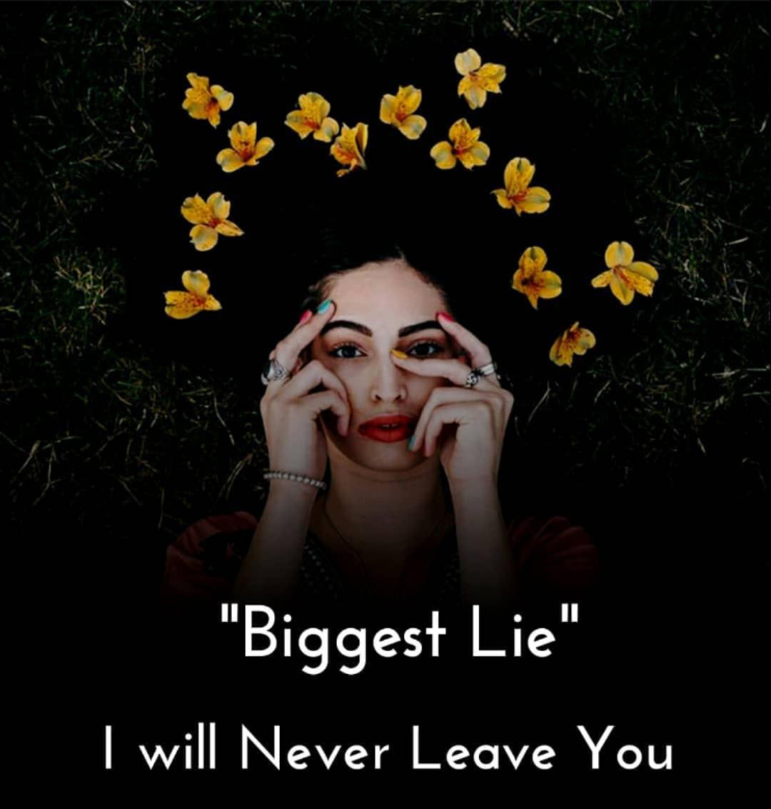 😓డిప్రషన్ - Biggest Lie I will Never Leave You - ShareChat