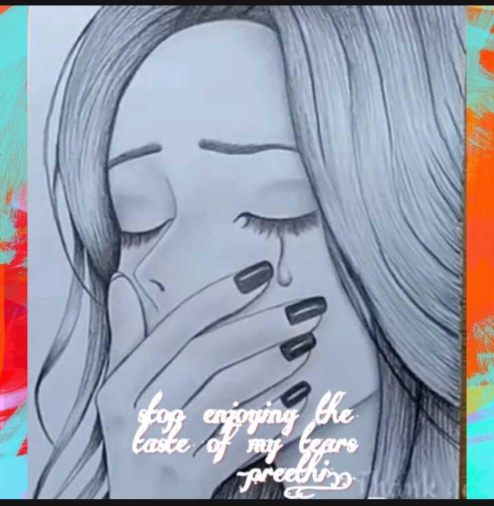 feeling 🌟.... - enjoying the of my tears gareething - ShareChat