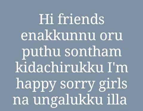 feel my love - Hi friends enakkunnu oru puthu sontham kidachirukku I ' m happy sorry girls na ungalukku illa - ShareChat