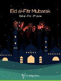 ഈദ് മുബാറക് 🌙 - Eid al - Fitr Mubarak Eid al - Fitr - 5th June I . fpffernsnpetas - ShareChat