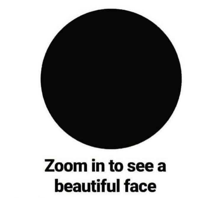 find out ?... - Zoom in to see a beautiful face - ShareChat