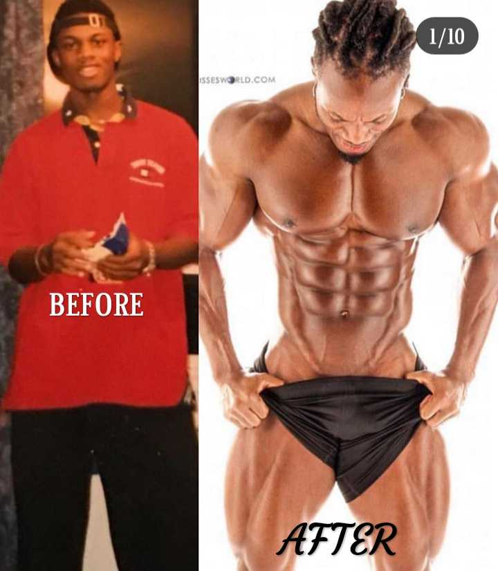 fitness - 1 / 10 ISSESWORLD . COM BEFORE AFTER - ShareChat