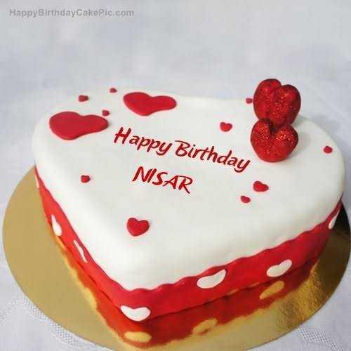follow me 😘 - Happy Birthday CakePic . com Happy Birthday NISAR - ShareChat