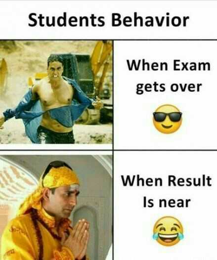 fun😝😝 - Students Behavior When Exam gets over When Result Is near - ShareChat