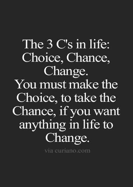 fun and quote - The 3 C ' s in life : Choice , Chance , Change . You must make the Choice , to take the Chance , if you want anything in life to Change . via curiano . com - ShareChat