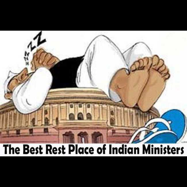 funny caption - The Best Rest Place of Indian Ministers - ShareChat