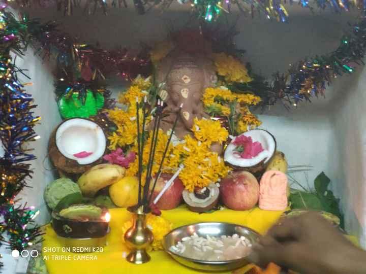 ganesha chathurthi - SHOT ON REDMI K20 AI TRIPLE CAMERA - ShareChat