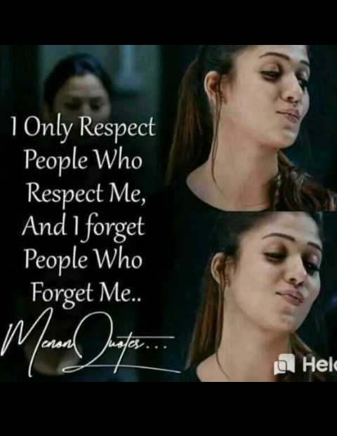 girls attitude😎😎 - 1 Only Respect People who Respect Me , And I forget People who Forget Me . . a Hela - ShareChat
