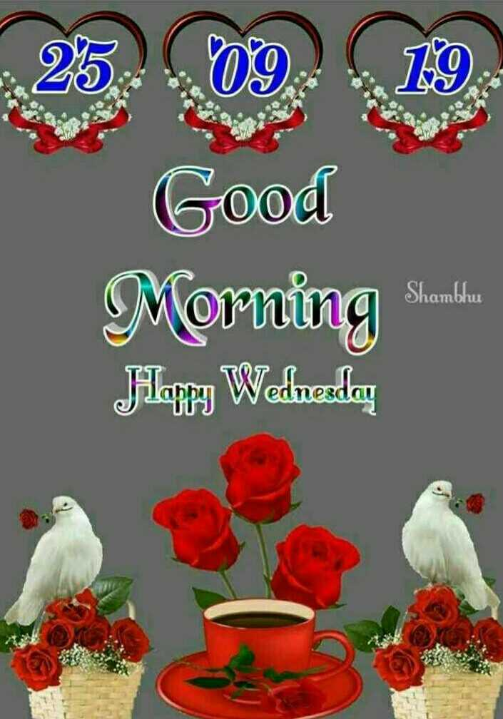 goodmornin - 25 . 09 . 19 . Good Morning S . Happy Wednesday Shambhu - ShareChat