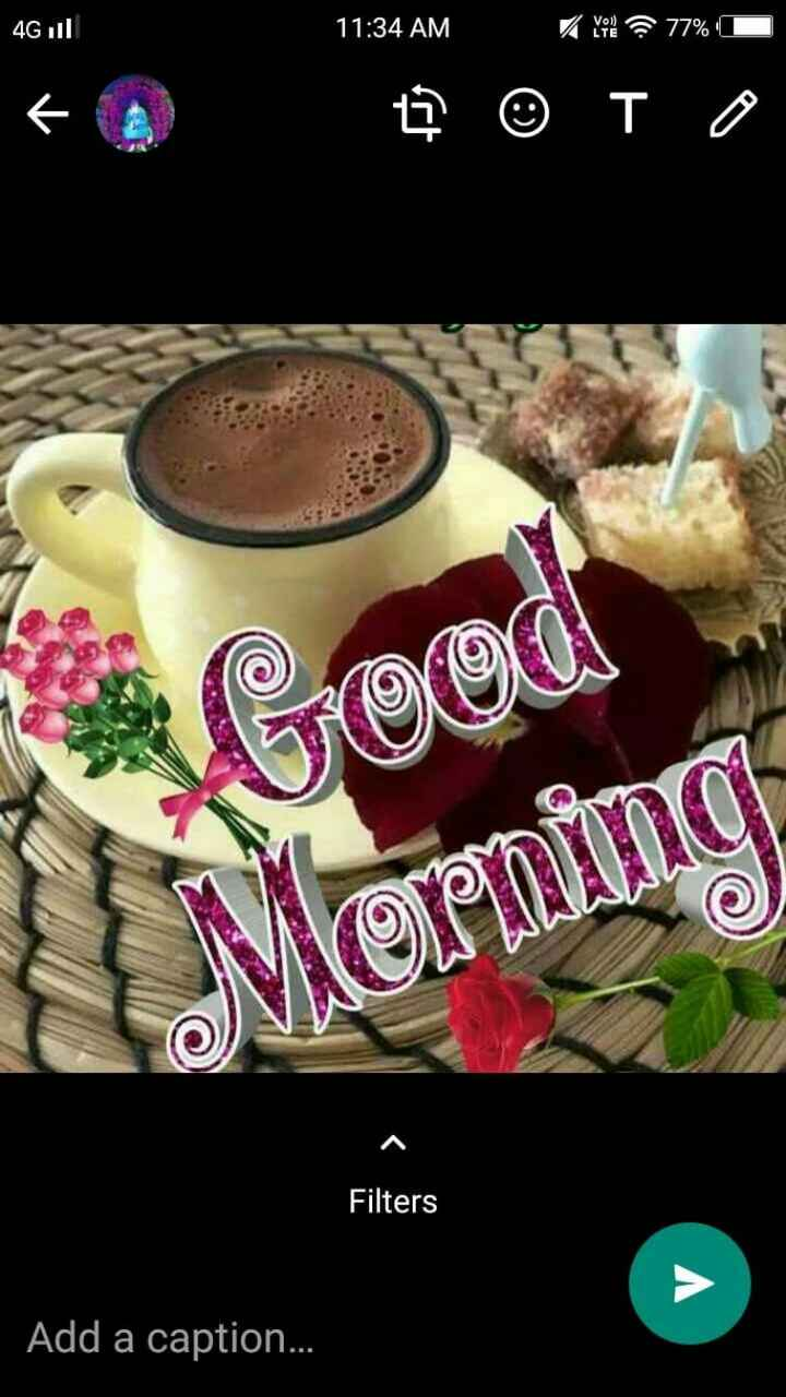 good morning ......... - 4Gul 11 : 34 AM © To hood vorming Filters Add a caption . . . - ShareChat