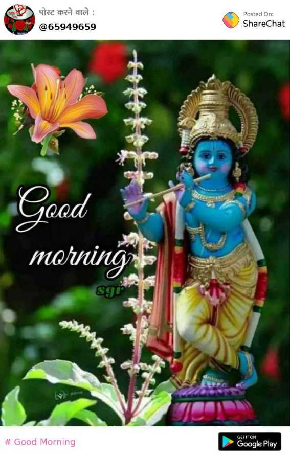 good morning - Rod and @ 65949659 Posted On : ShareChat Good morning Sg GET IT ON # Good Morning Google Play - ShareChat