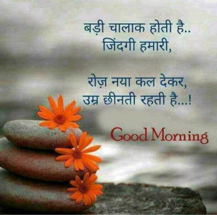 good morning # - बड़ी चालाक होती है . . जिंदगी हमारी , रोज़ नया कल देकर , उम्र छीनती रहती है . . . ! Good Morning - ShareChat