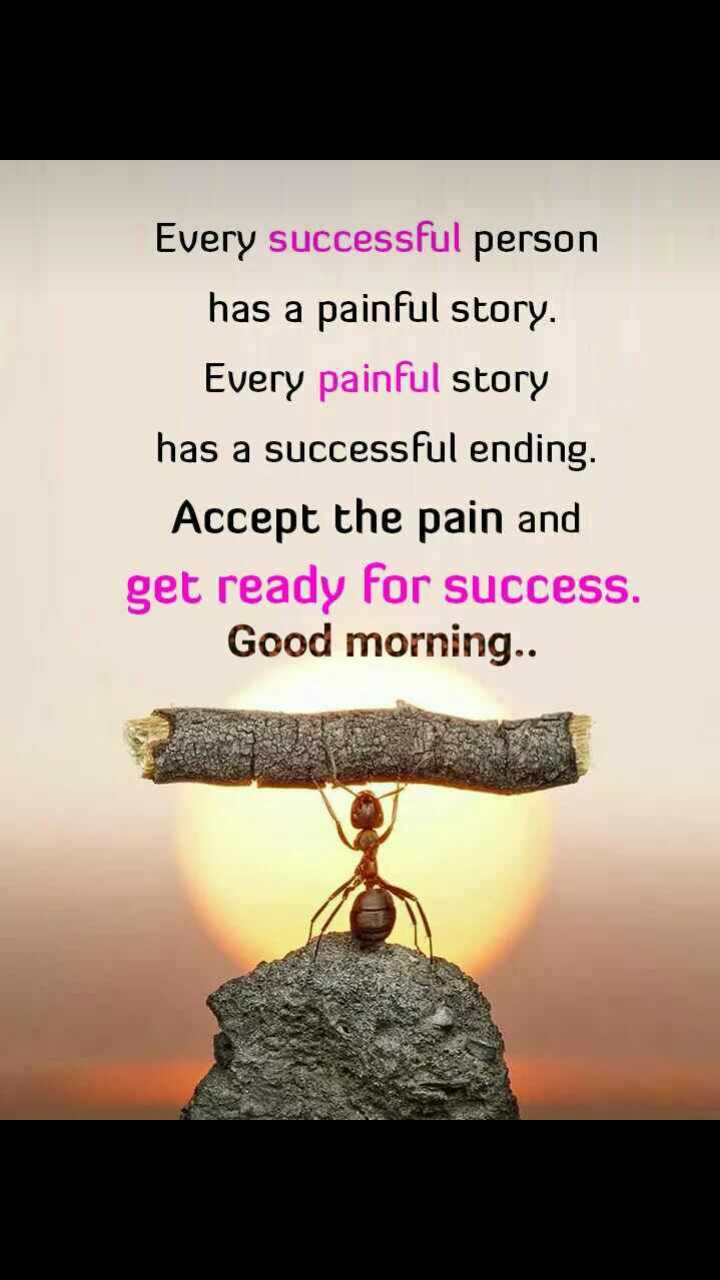 good   morning - Every successful person has a painful story . Every painful story has a successful ending . Accept the pain and get ready for success . Good morning . . - ShareChat