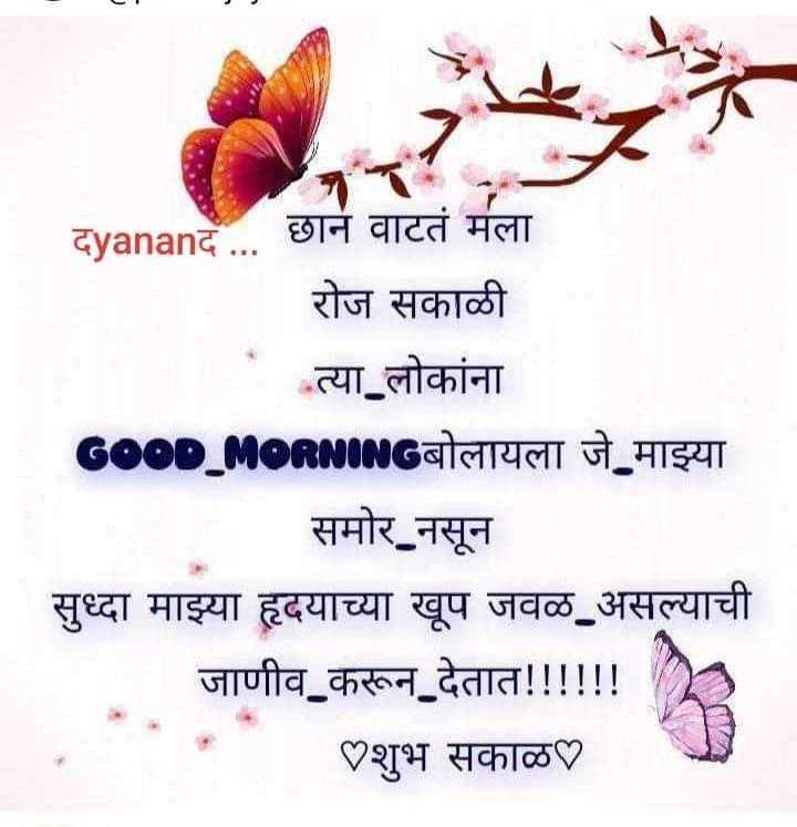 good morning 🙂 - दyananद . . . छान वाटतं मला रोज सकाळी त्या लोकांना GOOD _ MORNINGबोलायला जे माझ्या समोर नसून सुध्दा माझ्या हृदयाच्या खूप जवळ असल्याची जाणीव करून देतात ! ! ! ! ! ! शुभ सकाळ - ShareChat