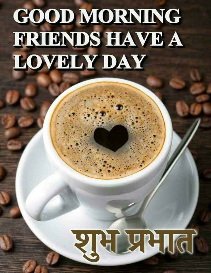 🌹☕good morning☕🌹 - GOOD MORNING FRIENDS HAVE A LOVELY DAY शुभ प्रभा - ShareChat