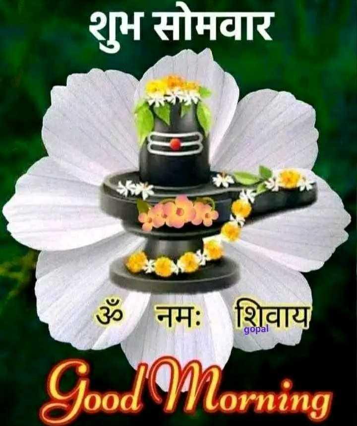 good morning💐 - शुभ सोमवार ॐ नमः शिवाय gopal Good Morning - ShareChat