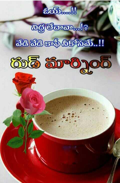 good morning - ఓయ్ ! విద్రలేచావా ! ? వేడి వేడి కాఫీలీకోసమే . . ! ! ధుడ్ మార్నింగ్ - ShareChat