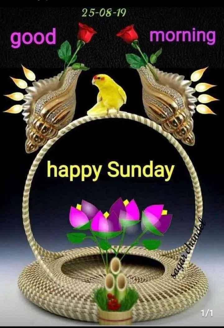## good morning  ## - 25 - 08 - 19 good morning happy Sunday sagarch 1 / 1 - ShareChat