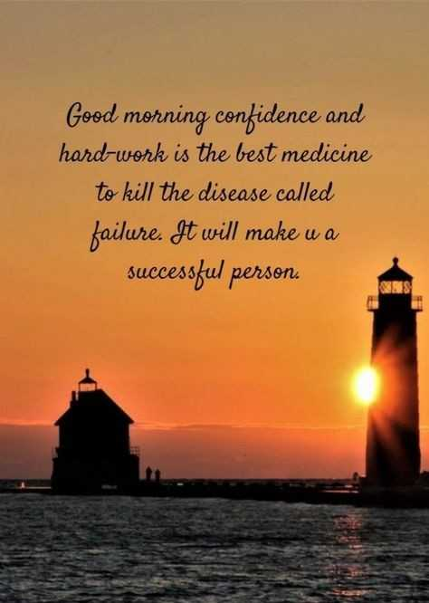 🙏good morning 🙏# - Good morning confidence and hard - work is the best medicine to kill the disease called failure . It will make u a successful person . - ShareChat