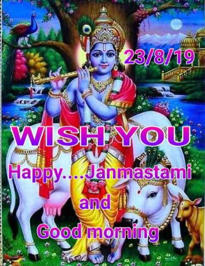 good morning - 23 / 8 / 19 in WISHYOU . TULUI Happy . . . . Janmastami 1 ) and 11 . Good morning - ShareChat