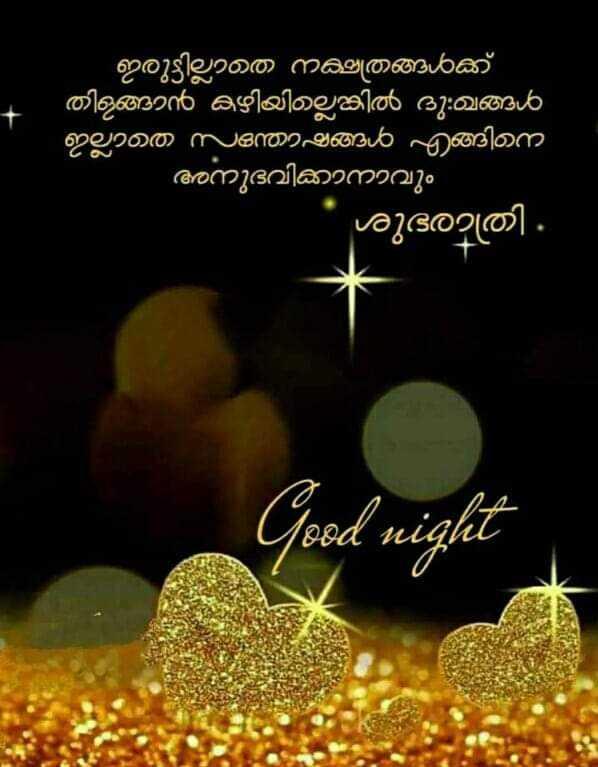 good night 💙❤💛💜💚 - ' ഇരുട്ടില്ലാത നക്ഷത്രങ്ങൾക്ക് തിളങ്ങാൻ കഴിയില്ലെങ്കിൽ ദു : ഖങ്ങൾ ഇല്ലാത സന്തോഷങ്ങൾ എങ്ങിന അനുഭവിക്കാനാവും ശുഭരാത്രി . Good night - ShareChat