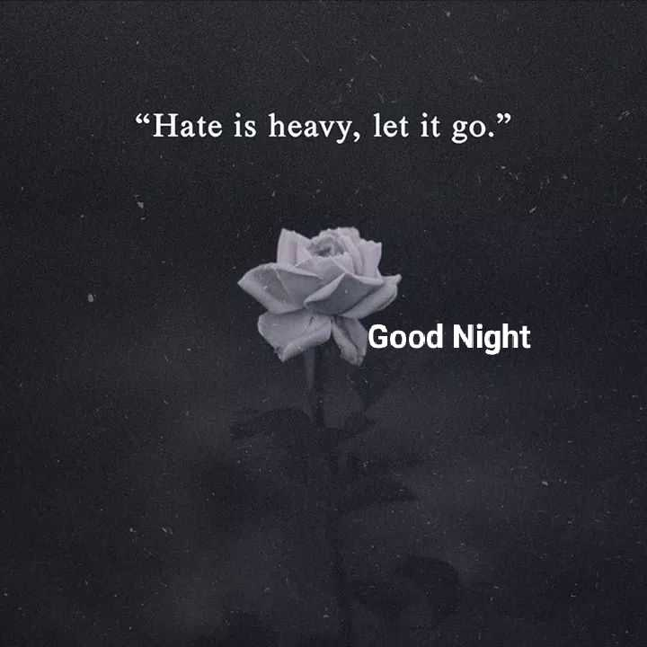 "good night.... - "" Hate is heavy , let it go . "" Good Night - ShareChat"
