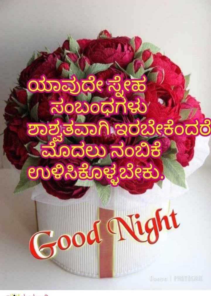 #good night - ಯಾವುದೇ ಸ್ನೇಹ ಸಂಬಂಧಗಳು ' - ಶಾಶ್ವತವಾಗಿ ಇರಬೇಕೆಂದರೆ ಮೊದಲು ನಂಬಿಕೆ ಉಳಿಸಿಕೊಳ್ಳಬೇಕು , Good Night Lope Ho - ShareChat