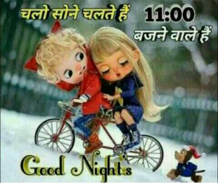 good night 🌺🌺 - चलो सोने चलते हैं 11 : 00 बजने वाले हैं Good Nicht - ShareChat