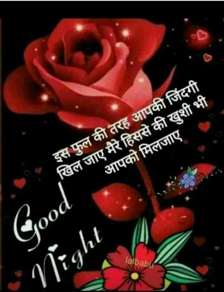 good night🙌 - इस फूल की तरह आपकी जिंदगी खिल जाए मैरे हिससे की खशी भी आपको मिलजाए Good lalbabu * * Night - ShareChat