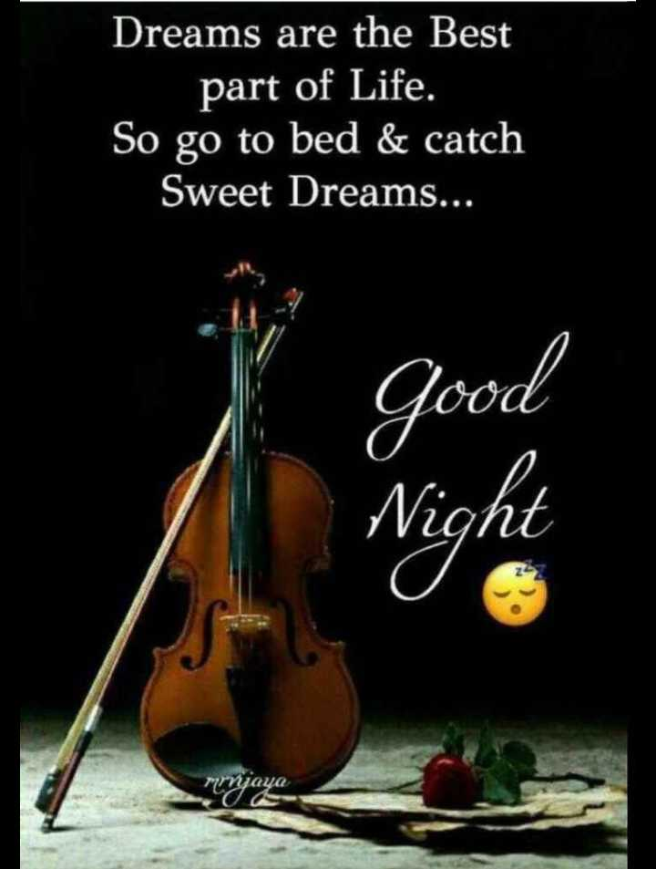 🌙good night🌙 - Dreams are the Best part of Life . So go to bed & catch Sweet Dreams . . . Good Night mrjaya - ShareChat