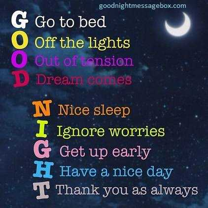 🌟good night 🌟 - goodnightmessagebox . com G Go to bed . O Off the lights O Out of tension D Dream colhes . N Nice sleep I Ignore worries G Get up early H Have a nice day T Thank you as always - ShareChat